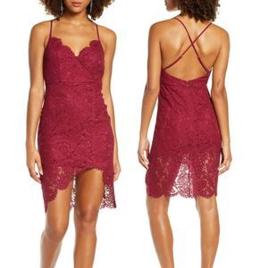 Lulu's NEW 'Flirting With Desire' Red Lace Dress